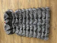 Меховая жилетка безрукавка из натурального меха чернобурки