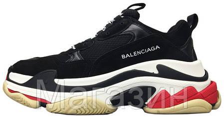Женские кроссовки Balenciaga Triple S Баленсиага Трипл С черные, фото 2