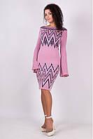 Приталенное вязаное платье