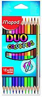 Карандаши цветные 12шт/24цв. Maped Color Peps Duo двухсторон. 829600