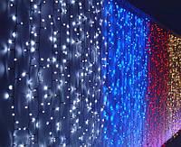 Гирлянда шторы «Водопад» 240 LED (2 м х2 м), Цвет: мульти, белый, желтый, синий