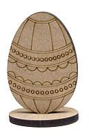 Заготовка для декорирования Rosa (МДФ 6мм) набор 2шт Яйцо-7 8,5*6см 2806041