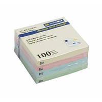 Бумага для заметок с липким слоем 76*76мм 100л. ассорти Buromax Jobmax BM.2312-99