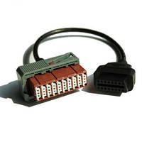 Переходник OBD 2 - PSA 30 pin. Кабель для диагностики автомобилей Пежо и Ситроен