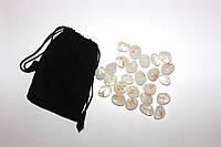 Руны из Белого Кварца ( полированный камень)