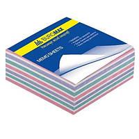 Блок бумаги для заметок, цветная 80*80*20мм 220л. склеенная Buromax Jobmax BM.2254