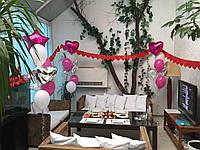 Оформление с шаров, стенка из шаров, сердце на свадьбу, Шар-гигант, Гелиевые шары, воздушные шары