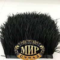 Тесьма страусиная  Цвет Black, цена за 0.5м