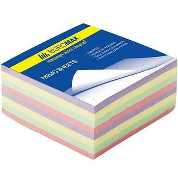 Бумага кубарик для записей, цветная 80*80*30мм 340л. склеенная Buromax BM.2272