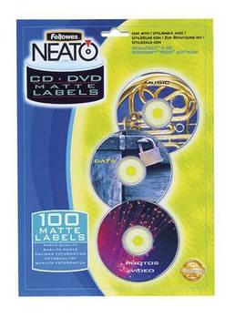 Матовые вкладки FELLOWES NEATO в коробки Simline для CD/DVD дисков f.84498