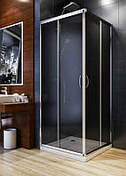Душевая квадратная кабина Aquaform NIGRA 80х80х185 графит