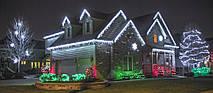 Новогодняя гирлянда Бахрома 500 LED, Белый холодный свет 21 м + пульт, фото 2