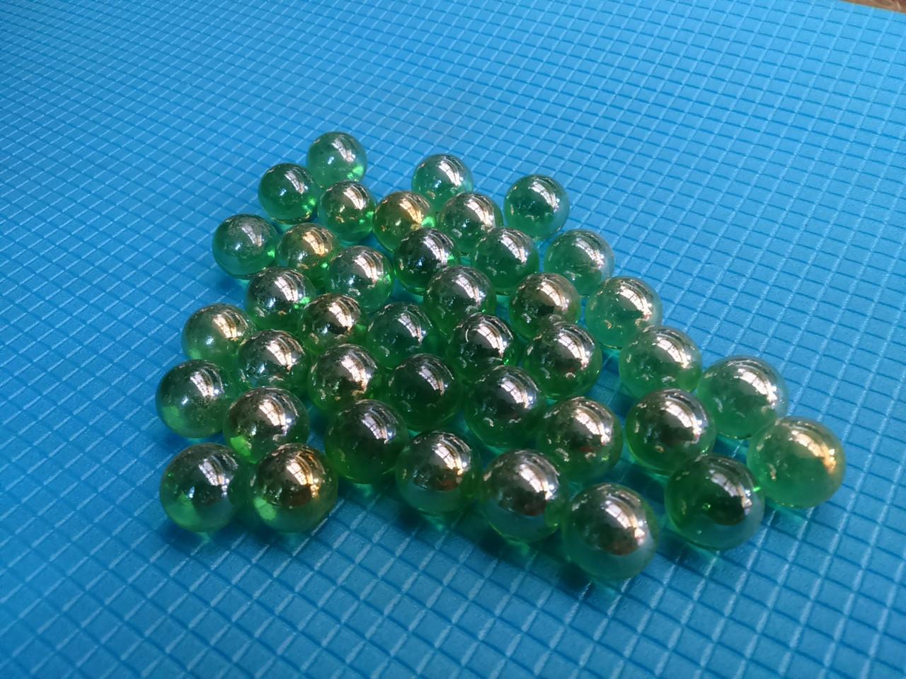 Стеклянные шарики, зеленые. Набор из 50шт