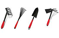 """Набор садовый """" Вместе """" Лопатка, грабельки,  мотыжка 4 предмета"""