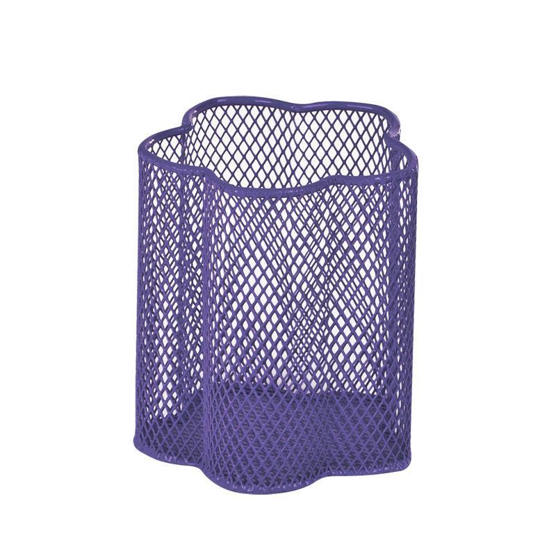 Стакан для ручек Металл Сетка ЦветокФиолетовый Д90мм ZiBi ZB.3101-07