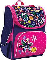 Рюкзак (ранец) школьный каркасный 1 Вересня Smart 553017 Flowers PG-11 34*26*14см