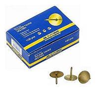 Кнопки золотые BUROMAX 100шт BM.5103