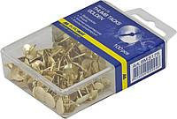 Кнопки золотые BUROMAX 100шт в пластиковом футляре BM.5175