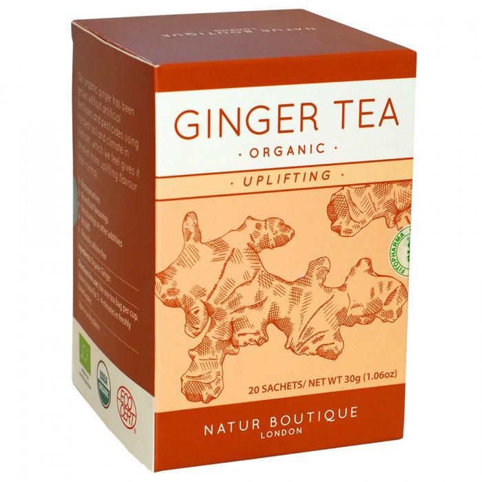 Чай ІМБИР органічний Natur Boutique, 20 фільтр-пакетів Покращує травлення