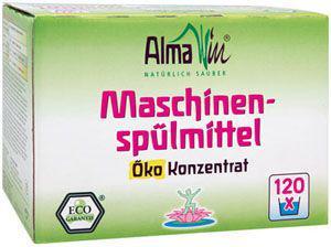 Концентрований порошок для посудомийних машин органічний AlmaWin, 1.25 кг