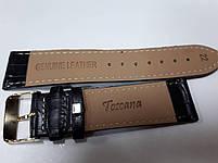 Ремешок для часов Toscana структурный 22мм черный, фото 2