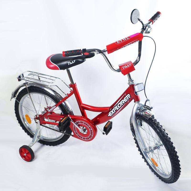 Велосипед двухколесный  EXPLORER 16 красный дюймов на  3, 4, 5 лет