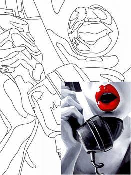 Картина раскраска с контурами на холсте ROSA START 30*40см, хлопок, акрил Pop Art Passion GPA284308