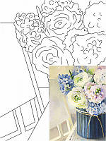 Картина раскраска с контурами на холсте ROSA START 30*40см, хлопок, акрил Натюрморт №26 GPA283226