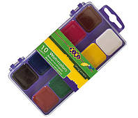Краски акварельные 10 цв. ZiBi пласт/уп б/к 6520-07