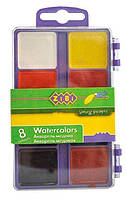 Краски акварельные 8 цв. ZiBi пласт/уп б/к 6519-07