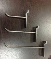 Крючки для товара хромированные на эконом панель, 5 см. (4мм.)