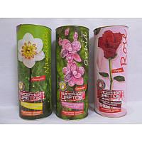 Бисерный цветок в тубусе арт. БЦ-04 р. 20-7,5 см, бисероплетение, цветок из бисера