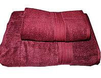 Набор махровых полотенец Galata бордо