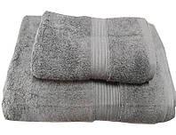 Набор махровых полотенец Galata серый