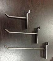 Крючки для товаров хромированные на эконом панель, 20 см. (4мм.), фото 1