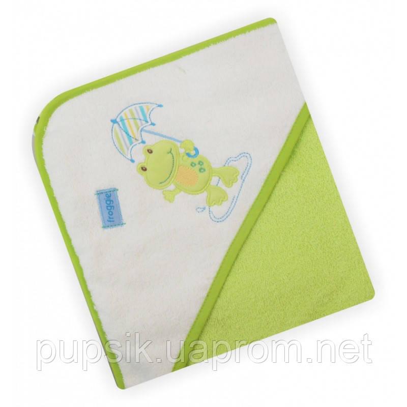 Полотенце-уголок Baby Mix CY-16 Green Лягушка