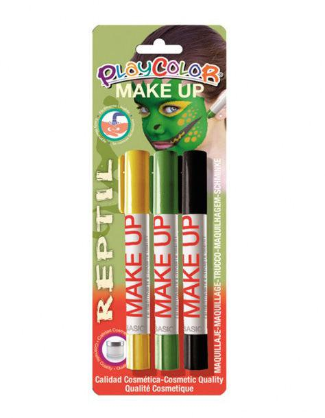 Аквагрим для лица карандаши INSTANT Playcolor bl Reptil набор 3цв. 01045