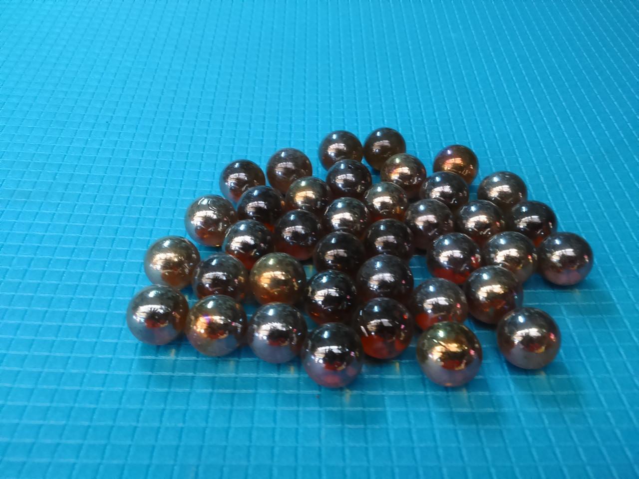 Стеклянные шарики, коричневые. Набор из 50шт