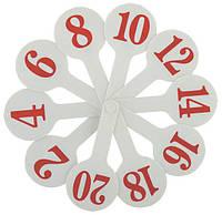 Веер пластиковый цифровой Числа 1-20 (1шт) ZiBi ZB.4900