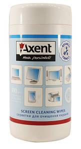"""Салфетки чистящие в боксе """"Axent"""", в рулоне 100 штук"""