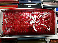 Кошелек на молнии лаковый красный кожаный женский Balisa C940-P71-QB2, фото 1