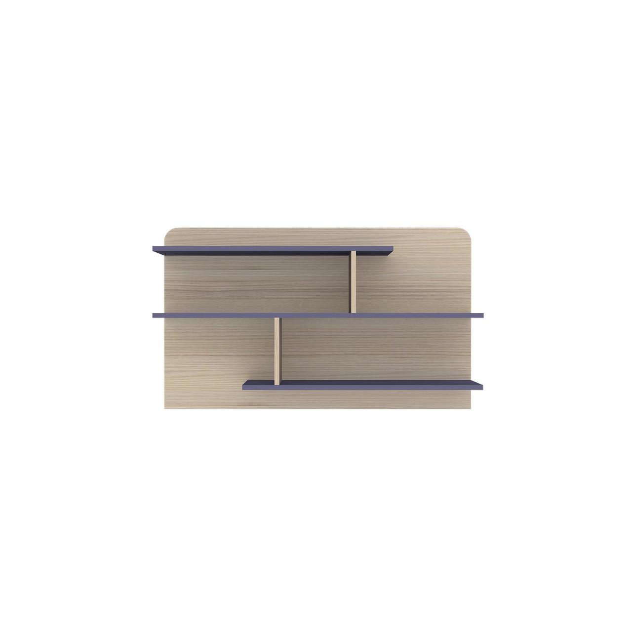 Полиця навісна з ДСП навісна JASMINE H Blonski коімбра+фіолет синій