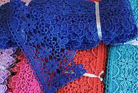 Кружево макраме 7 см, цвет синий