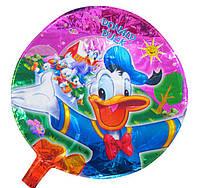 Шарик воздушный фольга + палочка-держатель Donald AH2005-2048