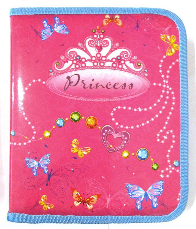 Папка для тетрадей А5+ Мультяшки на молнии Princess 7862