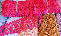 Кружево макраме 7 см, цвет коралловый