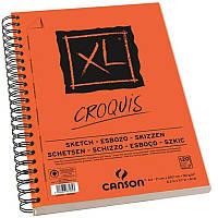 Альбом спираль А4 для графики Canson XL 90г/м 120л. Слоновая кость CON-200787103R