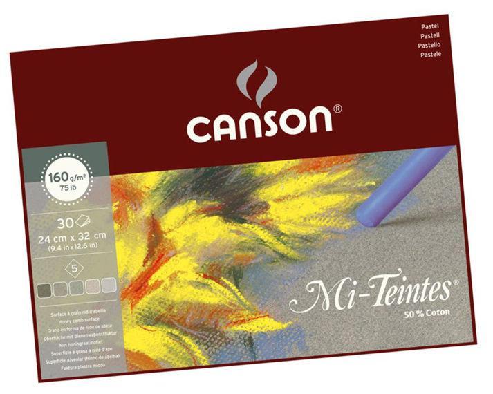 Бумага-склейка для пастели Canson Mi-Teintes 24*32см 160г/м 30л. Серая гамма CON-400030143R - Офис-Престиж в Одессе