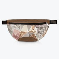 Удобная напоясная сумка Crystals brown