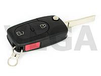 Audi A2 A3 A4 A6 A8 Q3 Q5 Q7 TT 2 кнопки ключ зажигания корпус выкидного ключа заготовка двери с лезвием